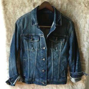 Articles of Society Distressed Denim Jacket Sz M